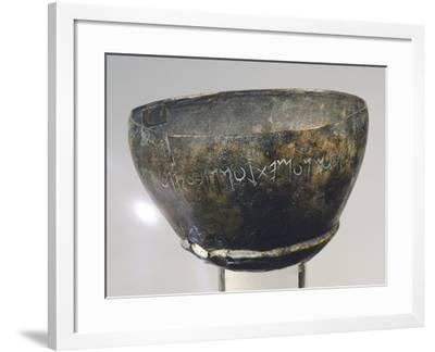 Kantharos with Votive Inscription--Framed Giclee Print