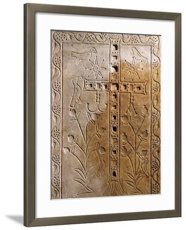 Early Christian Relief with Jeweled Cross--Framed Giclee Print