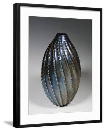 Glazed and Lustred Terracotta Vase--Framed Giclee Print