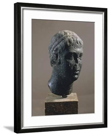 Head of Royal Man with Royal Crown--Framed Giclee Print