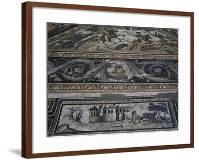 Hunting Scene on Horseback--Framed Giclee Print
