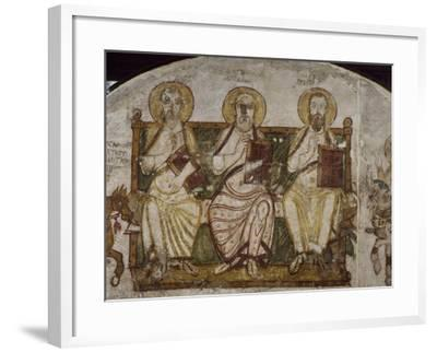 Saint Apollo Enthroned with Saints--Framed Giclee Print