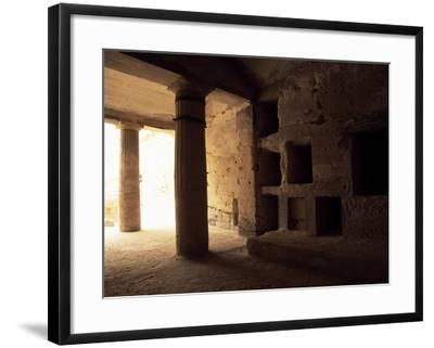 Interior of Tomb 1 with Peristyle--Framed Giclee Print