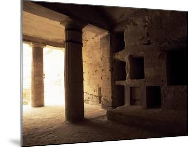 Interior of Tomb 1 with Peristyle--Mounted Giclee Print