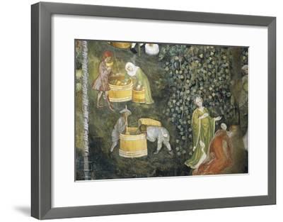 Tasting New Must Fresco Attributed to Bohemian Master Venceslao--Framed Giclee Print