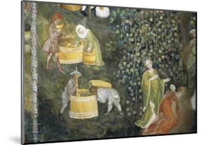 Tasting New Must Fresco Attributed to Bohemian Master Venceslao--Mounted Giclee Print
