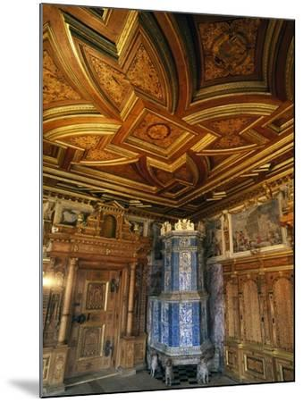 View of Princely Room with Inlaid Ceiling and Majolica Stove--Mounted Giclee Print