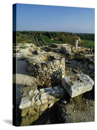 View of the Archaeological Site of Early Christian Basilicas--Stretched Canvas Print