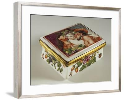 Snuffbox with Floral Decorations and Fauns--Framed Giclee Print