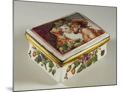 Snuffbox with Floral Decorations and Fauns--Mounted Giclee Print