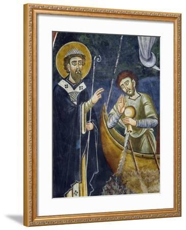 Saint Nicholas Saving Pilgrims from Shipwreck--Framed Giclee Print