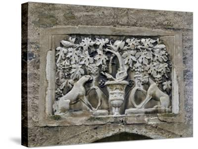 Detail of Roman Relief with Vines and Panthers--Stretched Canvas Print