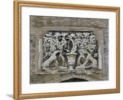 Detail of Roman Relief with Vines and Panthers--Framed Giclee Print