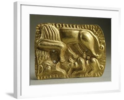 Gold Armour Stud Decorated with Animal Figures--Framed Giclee Print