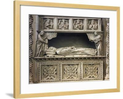 Marble Sepulchral Monument of Pope Benedict XI--Framed Giclee Print