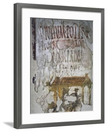 Mural with Depicting Mercury and Electoral Inscriptions--Framed Giclee Print