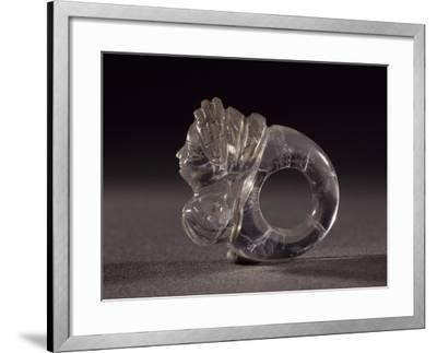 Rock Crystal Ring Decorated with Bust of Woman--Framed Giclee Print