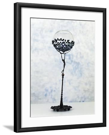Iron Sculpture with Glass Paste Set in the Base and at the Top--Framed Giclee Print