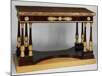 Empire Style Mahogany Centre Table with Veneer Finish--Mounted Giclee Print