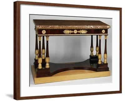Empire Style Mahogany Centre Table with Veneer Finish--Framed Giclee Print