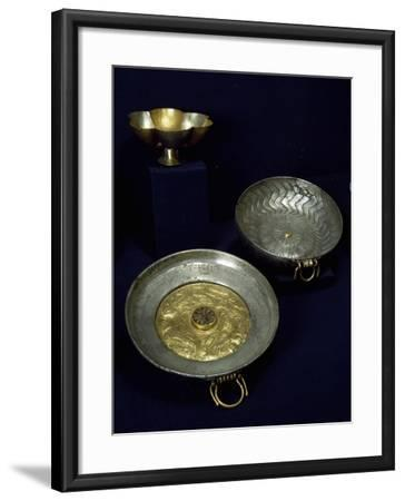 Gold and Silver Plates and Bowls of Undebaunded--Framed Giclee Print