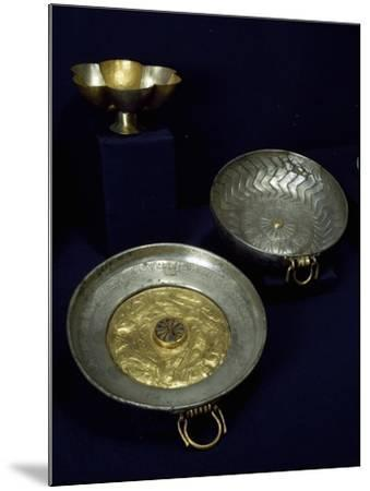Gold and Silver Plates and Bowls of Undebaunded--Mounted Giclee Print