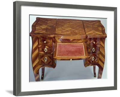 Louis XV Style Oak Dressing Table with Satinwood Veneer Finish--Framed Giclee Print