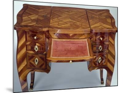 Louis XV Style Oak Dressing Table with Satinwood Veneer Finish--Mounted Giclee Print