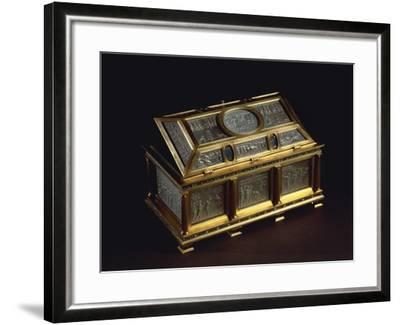 Rock Crystal and Enameled Silver-Gilt Coffer--Framed Giclee Print