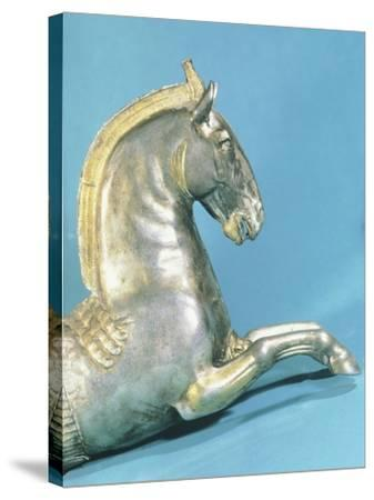 Silver Rython with Protome in Shape of Horse--Stretched Canvas Print