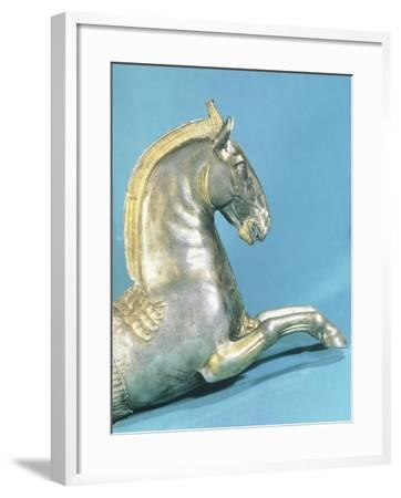 Silver Rython with Protome in Shape of Horse--Framed Giclee Print