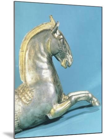 Silver Rython with Protome in Shape of Horse--Mounted Giclee Print