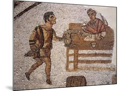 Mosaic Depicting a Banquet at Carthage from Uzitta--Mounted Giclee Print