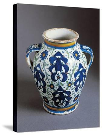 Two-Handled Bulbous Jug Decorated with Persian Palmettes--Stretched Canvas Print