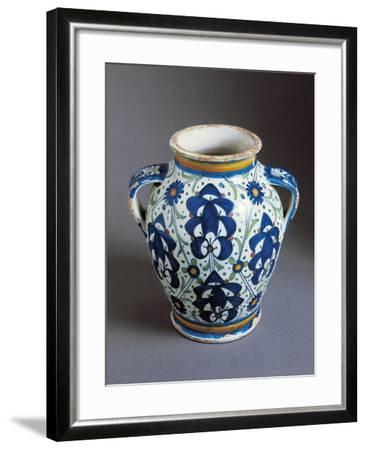 Two-Handled Bulbous Jug Decorated with Persian Palmettes--Framed Giclee Print