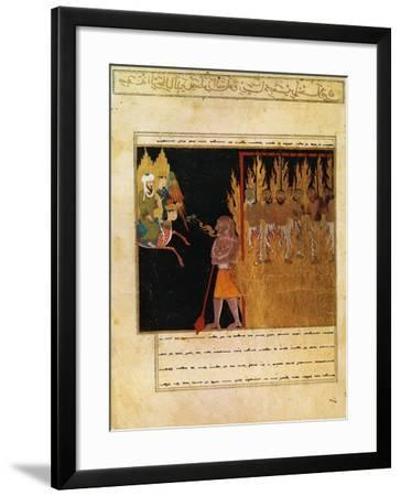 Muhammad Descends into Hell with the Angel Gabriel--Framed Giclee Print