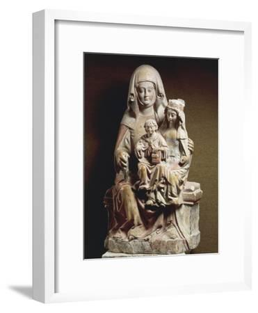 Polychrome Stone Group Sculpture Depicting St Anne--Framed Giclee Print
