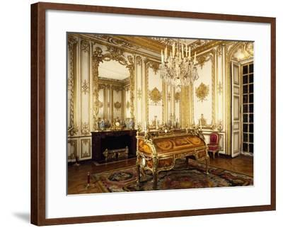Louis XV's Study with Bureau and Cylindre--Framed Giclee Print