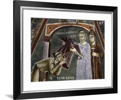 Saint Eldrad Returns from Santiago De Compostela and Receives Religious Habit--Framed Giclee Print