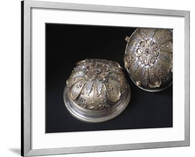 Silver Cup Decorated with Enamel and Chiselled Features. from Civita Castellana, Viterbo Province--Framed Giclee Print