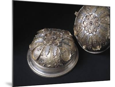 Silver Cup Decorated with Enamel and Chiselled Features. from Civita Castellana, Viterbo Province--Mounted Giclee Print