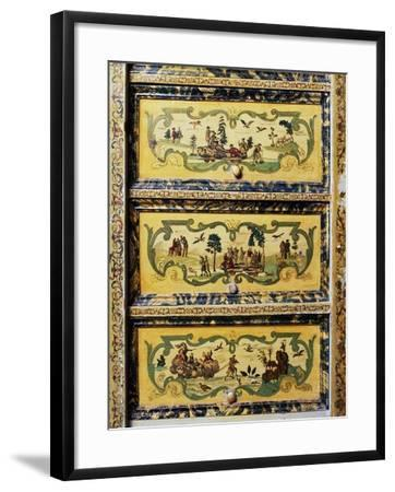 Trumeau Cabinet with Arte Povera Style Paintings Depicting Pastoral and Chinese Scenes--Framed Giclee Print