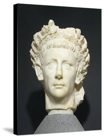 Roman Civilization Head of Claudius Wearing Civic Crown of Oak Leaves. from Roselle--Stretched Canvas Print