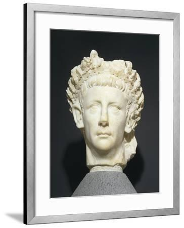 Roman Civilization Head of Claudius Wearing Civic Crown of Oak Leaves. from Roselle--Framed Giclee Print
