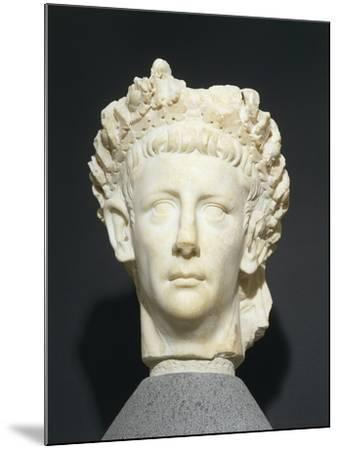 Roman Civilization Head of Claudius Wearing Civic Crown of Oak Leaves. from Roselle--Mounted Giclee Print
