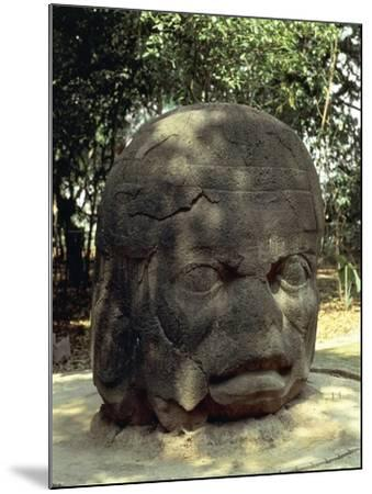 Mexico, Tabasco, La Venta Archaeological Site of Pre-Columbian Olmec Civilization--Mounted Giclee Print