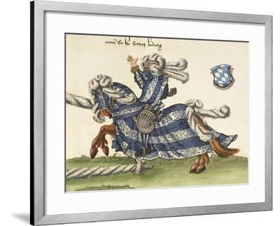 Illustration from Turnier Buch Depicting Wilhelm Von Bayern Clashing with Wurttemberg Knight--Framed Giclee Print