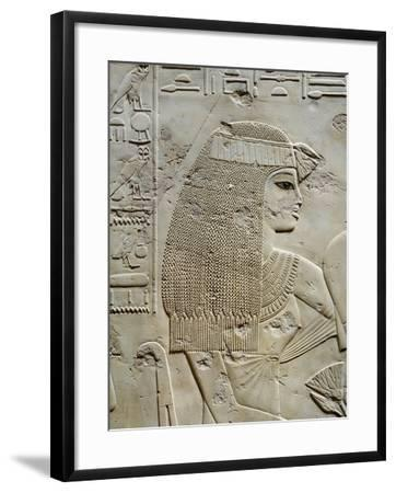 Tomb of City Governor and Vizier Ramose, Relief of Ramoses Wife in Hypostyle Hall from 18th Dynasty--Framed Giclee Print