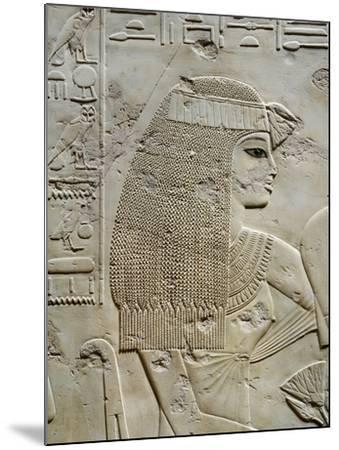Tomb of City Governor and Vizier Ramose, Relief of Ramoses Wife in Hypostyle Hall from 18th Dynasty--Mounted Giclee Print
