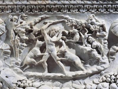 Marble Sarcophagus with Reliefs Representing Divinities and Garlands--Framed Giclee Print
